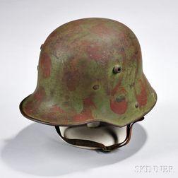 German Model 1916 Camouflage-painted Helmet