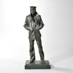 After Stanley Bleifield (American, 1924-2011)       Bronze Figure of The Lost Sailor