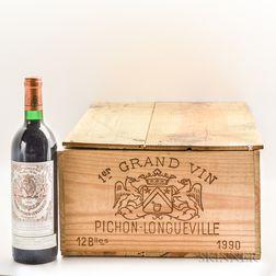 Chateau Pichon Baron 1990, 9 bottles