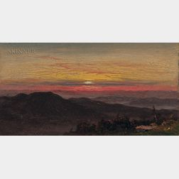 Hudson River School, 19th Century      Sunset Vista