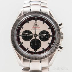 "Limited Edition Omega ""Michael Schumacher"" Speedmaster Wristwatch Full Set"