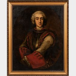 Manner of Alessandro Longhi (Italian, 1733-1813)      Portrait of a Young Aristocrat in Armor