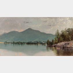 Nelson Augustus Moore (American, 1824-1902)      Dark Bay, Lake George