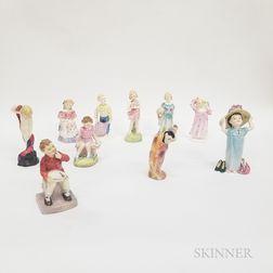 Ten Royal Doulton Ceramic Figures