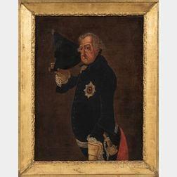 After Johann Heinrich Christian Franke (German, 1738-1792)      Copy of the Portrait of King Frederick II of Prussia Doffing His Hat