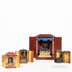 Four Portable Lacquered Shrines, Zushi
