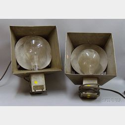 Pair of Johnson Ventlite Co. Metal Lanterns