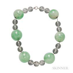 Jade and Rock Crystal Necklace