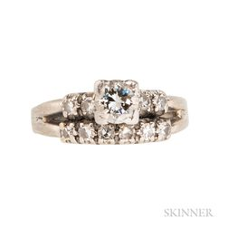 White Gold and Diamond Solitaire
