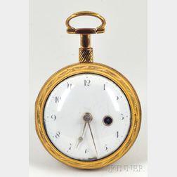 Early Brass-cased Pocket Watch by Watson