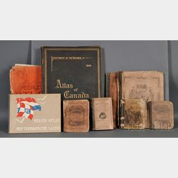 Atlases and Maps, Nine Bound Volumes, and Assorted Loose Maps: