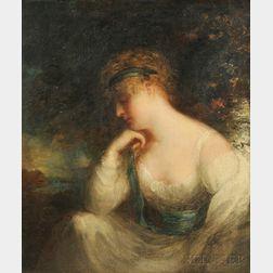 School of John Hoppner (British, 1758-1810)    Portrait of a Young Lady