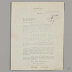 Coolidge, Calvin (1872-1933) Four Typed Letters Signed, 1929-1931.