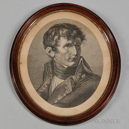Napoleon Premier Consul de la Republique Francaise   Stipple Engraving