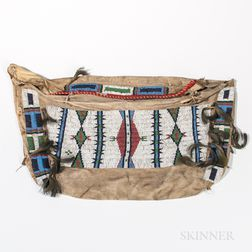 Plains Beaded Hide Possible Bag