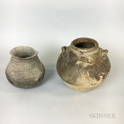 Two Archaic-style Pottery Storage Jars