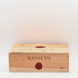 Tenuta dellOrnellaia Masseto 2008, 3 bottles (owc)