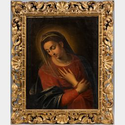 Italian School, 19th/20th Century      Copy After an Unknown Renaissance Madonna of the Annunciation
