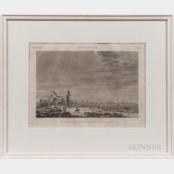 French School, 19th Century, Three Framed Plates from Description de l'Égypte, ou Recueil des observations et des recherches qui ont é