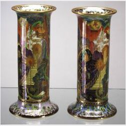 Two Similar Wedgwood Torches Vases