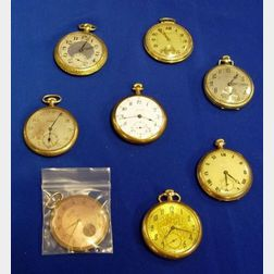 Eight Openface Pocket Watches
