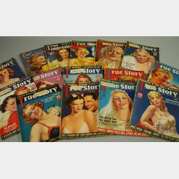 Fifteen 1930s and 1940s Tabloid and Movie Star Magazines