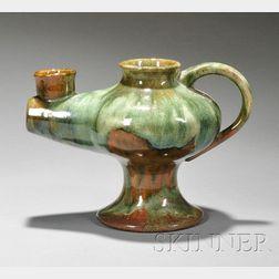 W. J. Walley Pottery Lamp