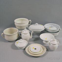 Thirteen Pieces of Ironstone Pottery