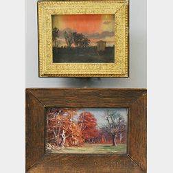 Two Paintings:      Frederick Mortimer Lamb (American, 1861-1936), Autumn Leaves