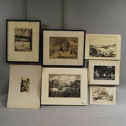 Seven Prints:      Philip Kappel (American, 1901-1981), Paradise Found