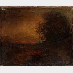 George Inness (American, 1825-1894)      Sunset