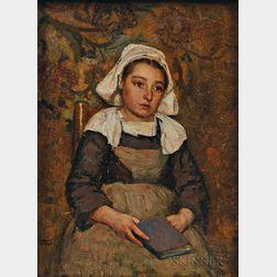 Thomas Hovenden (American, 1840-1895)      Enfant à la Lecture