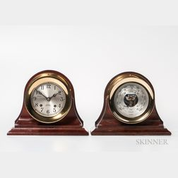 Chelsea Ship's Bell Clock and Barometer Set