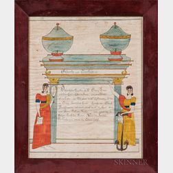 Watercolor Marriage Certificate