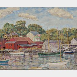George W.K. Newbold (American, 1879-1948)      Friendship Schooners, Camden, Maine