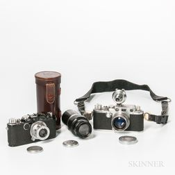 Leica IIIF with Two Lenses and an Assembled Leica