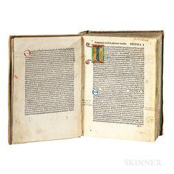 Pius II, Pope [aka Aeneas Sylvius Piccolomini] (1405-1464) Edited by Nicolaus de Wyle (1410-1479) Epistolae Familiares. De Duobus amant