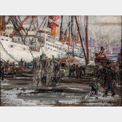Frederick Usher De Voll (American, 1873-1941)      New York Harbor