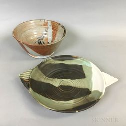 Two Pieces of Modern Studio Pottery