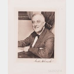 Roosevelt, Franklin Delano (1882-1945) Signed Photogravure.