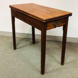 George III Mahogany One-drawer Games Table