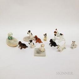 Eleven Royal Doulton Ceramic Dogs