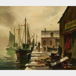 John Cuthbert Hare (American, 1908-1978)    Fog at Provincetown