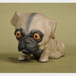 German Papier-mache Bulldog Candy Container