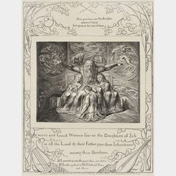 William Blake (British, 1757-1827)      There Were not Found Women Fair as the Daughters of Job...