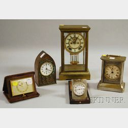 Collection of Five Clocks