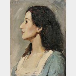 Eric L. (Frederic) Pape (American, 1870-1938)      Portrait of Alice   (Alice Byrne-Pape)