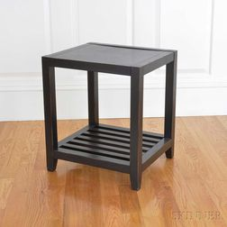 Black-lacquered Oak Cube Occasional Table