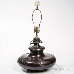 Bronze Lamp Vase