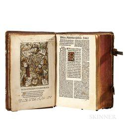 Guilelmus Parisiensis (1437-1485) Postille Maiores in Epistolas et Evangelia, [bound with] Daniel Agricolas Passio Domini Nostri Jesu